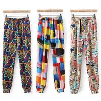Women Flare Loose Beauty Women Lady Colorfull Chiffon Long Palazzo Pants Trousers #62912
