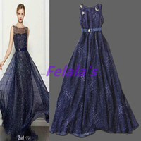 Reference Images V-Neck Elastic Satin 2014 new blue stars long prom gown dress formal lace event Pageant fashion robe de soiree new special event woman lady sweet 16 dresses