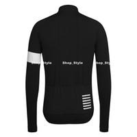 Wholesale 2014 Rapha Long Sleeve Cycling Jerseys Black Durable Perspiration Breathable Cycling Clothing Hot Sales Men Cycling Jerseys