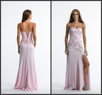 Sweetheart tony bowls dresses - sg Tony Bowl Prom Dresses Long Chiffon Sexy Party Gowns Sweetheart A Line Floor Length Applique Beads Backless Elegant Cocktail Dress