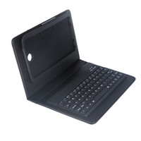 Wholesale 7 inch Wireless Bluetooth Silicone Keyboard PU Leather Case Cover for Samsung Galaxy Tab P3200 tablet Black C1743