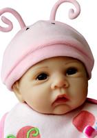 Unisex Birth-12 months Vinyl Wholesale-Lifelike and Realistic silicone Vinyl doll very soft reborn baby 55cm Weighted Body newborn lifelike girl