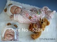 Unisex Birth-12 months Vinyl Wholesale-22 inches Sleeping Realistic Baby Doll Sweet Dreams Silicone vinyl doll very soft girls toys