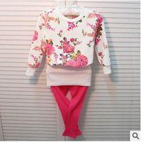 girls long sleeve shirts - 2014 Autumn Girls Long Sleeve Floral Cotton T shirt New Arrival Children s Casual T shirt