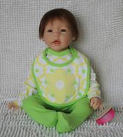 Unisex Birth-12 months Vinyl Wholesale-22 inch Reborn baby doll soft silicone vinyl handmade lifelike children birthday present
