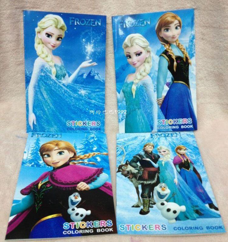 Kids Children Elsa Anna Olaf Frozen Stickers Oil Painting