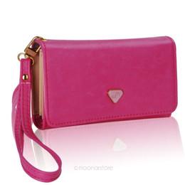 Wholesale-Lady Women PU Leather Zipper Handbag Wallet Clutch Purse Evening Bag Purse Phone Case Cover for iPhone4 4S 5 Samsung S2 S3 LB702