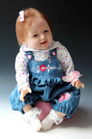 Unisex Birth-12 months Vinyl Wholesale-New Vinyl & Silicone Cute Super Simulation Baby Doll Lifelike Reborn Baby 22 inches NPK doll