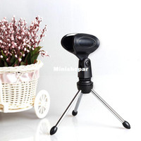 Wholesale 2014 New Arrive Adjustable Metal DeskTop Mic Microphone Clamp Clip Holder Stand Tripod Freeshipping