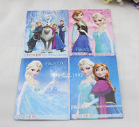 Wholesale Kids Children s Elsa Anna Olaf Frozen Stickers Oil Painting Notebook Drawing Book Stationery Cute Drawing Book Colouring Book Xmas Gift S