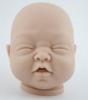 "Unisex Birth-12 months Vinyl Wholesale-Soft silicone vinyl reborn baby doll kits head 3\4 arms legs for 22"" baby dolls lifelike reborn doll kits free shipping"