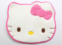 Wholesale Cute Gifts Hello Kitty Head Shaped Plush Rug Doormat Mat Pad Carpet