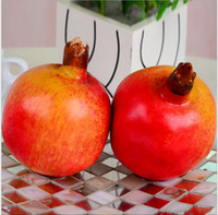 Wholesale New Artificial pomegranate Simulation Art Fruits For Home Decor Christmas Wedding Decoration Photography Props Baby Toys