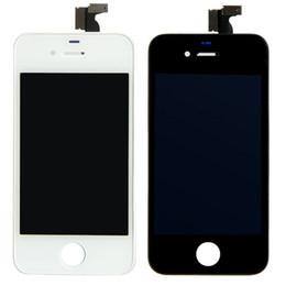 Iphone 4s conjunto completo en Línea-Reemplazo de Pantalla Táctil + LCD Pantalla Digitalizador + Polvo de Malla + Full Frame Set de Montaje Para el iPhone 4 4G/CDMA/4S DHL Gratis