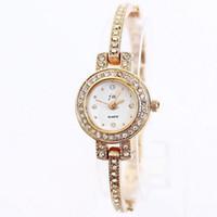 Wholesale Watch Rhinestone Luxury brand Fashion Style Casual Women Rose Gold Plated Design ladies friendship bracelet quartz watch