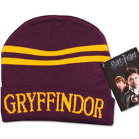 Wholesale Harry Potter college hats Gryffindor cap Slytherin beanies Ravenclaw skullies winter hat For Boy Gift