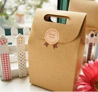 Wholesale Free Shopping Kraft Paper Bag DIY Gift Package Paper Box Size Wedding Gift Bag Candy Box