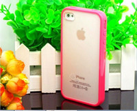 Wholesale Top Fashion Candy Colors Edge Hybrid PC TPU Slim Case For Apple iPhone S G iPhone4S Cover Phone Protection Shell