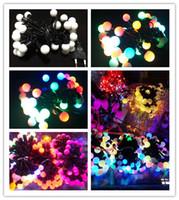 Christmas light bulb string lights - Christmas Light LED Bulb String Light Led Rainbow Light Waterproof RGB LED String M pack Leds V