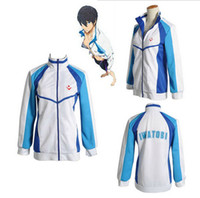Wholesale Brand New Iwatobi Swim Club Haruka Nanase Cosplay Costume Jacket Unisex Hoodie High School Sprot Wear