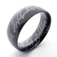 Band Rings anniversary posts - Dark Black Plated The Lord of the Ring In L Stainless Steel men women as power finger Ring mm Wide by China Post ePacket