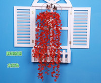 Wedding   Beautiful Artificial Cherry Blossom Flower Vine Plant Home Decorative Silk Flowers For Wedding Birthday Party Decoration 2014 New Item