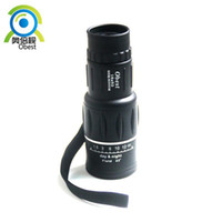 Cheap Wholesale-Free shipping New Black Rubber Armoring 16X52 Monocular Telescopes For Hunting Camping Outdoor optics lens prism