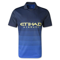 Wholesale Top Thai Quality AAA season Manchester city away blue Color Soccer football Jerseys hollywoodjersey