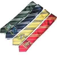 Wholesale New Arrival stylel Handsome Men Silk Neckties hot sell HARRY POTTER STYLE HOUSE TIES WITH BADGE FANCY DRESS COSPLAY FILM REPLICA