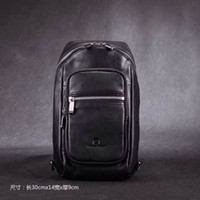 Wholesale 2014 New Style Really Leather Chest Baotou Leather Shoulder Bag Messenger Bag Pocket Casual Sports Backpack