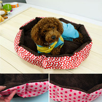 Wholesale Yellow Blue Red Pink Cotton Pet Dog Puppy Cat Soft Fleece Cozy Warm Nest Dog Beds House Mat For Pet nice pet products