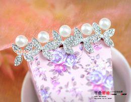 Wholesale 2015 New Fashion Flower Jewelry Wedding Tiaras Hair Accessories Swarovski Crystal Pearl Hair Pins Cheap Head Piece Clips