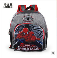 Backpacks Unisex 6T+ 2014 Hot movie spiderman bags kids drawstring bag school backpack for boys children spider-man cartoon bags for kid school frozenc423 5pcs