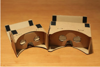 Wholesale DIY Google Cardboard Virtual reality VR mobile phone D glasses by Unofficial Cardboard