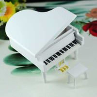 Birthday Cards Sample Retail Logs Piano music box wooden music box wood crafts creative gift Home Decoration