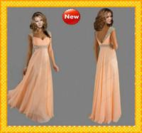 2015 Peach Beaded Chiffon Prom Dresses Under 130$ Bling Blin...