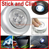 Wholesale 10x LED STICK SELF ADHESIVE LAMP BULBS BATTERY OPERATED PUSH ON OFF CLICK LIGHTS