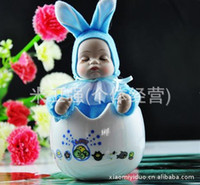 Birthday Cards Sample Retail People Egg baby - music box fashion cute baby egg ceramic music box birthday gift Christmas gift wholesale