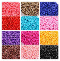 Ceramic, Clay, Porcelain 3MM seed beads glass Wholesale - 50g 2mm 12Colors Choice Fashion DIY Loose Czech Spacer glass Seed beads garment accessories and jewelry findings Free shipping