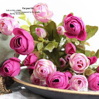 Wholesale 1pcs European high grade roses silk flowers artificial flowers Home decoration flower
