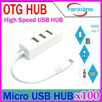 2-4 USB 2.0 12Mbps DHL 10PCS Smart High Speed micro OTG Cable Multi-function OTG Smart USB 2.0 Hub for OTG function phone and tablet PC YX-LZ-24