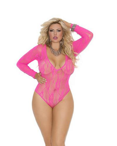 2014 Plus Size Lingerie Women Sexy Xl 4xl V Front Pink Teddy ...