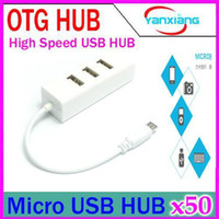 2-4 USB 2.0 12Mbps DHL 50PCS 4 in 1 USB OTG Cable Host High Speed Micro USB Hub Cable Adapter Power Cable For Micro-USB OTG Function Phone tablet pc YX-LZ-24