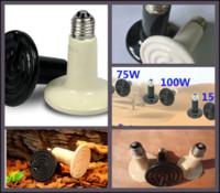 Lighting Anole & Chameleon  40Pcs lot 150W Reptile pet appliances flat-type Infrared Ceramic heat lamp 110V 220V (Reptile pet amphibian poultry) P403