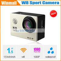 Wholesale Gopro Style SJ4000 Wifi Version HD Action Camera Mini DV M Waterproof W8 Extreme Sport Camera HDMI P Outdoor underwater Camcorder