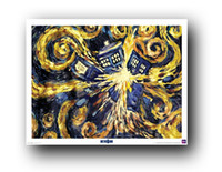 "Peel & Stick PVC Animal Wall Sticker of Doctor Who - TV Show (Van Gogh's Exploding) ""20x30"" inch Attractive and Durable Poster for Home Decorate Free Shipping"