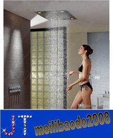Wholesale Luxury Bathroom quot Large Ceiling Waterfall Colorful LED Shower Head Faucet Set Rainfall Super Shower Head with Remote Controller HSA0631