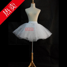 Wholesale Wedding Accessories Layers Crinolines Violence Bustle cos maid Cosplay lolita Ball Gown Skirt Short Boneless Bustle Bride Petticoat