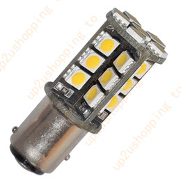 Wholesale 100pcs T25 S25 BAY15D Warm White SMD LED Car Tail Brake Stop Light Bulb for