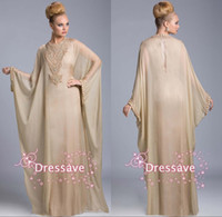 arab brides - 2015 Plus Size Mother of the Bride Dresses High Neck Crystals Chiffon Long Sleeves A Line Arab Muslim Formal Evening Prom Gowns BO6372